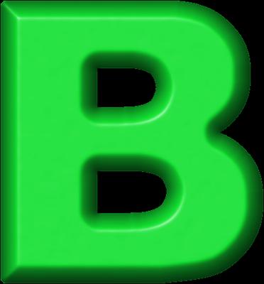 B clipart green. Presentation alphabets refrigerator magnet