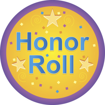 B clipart honor roll. Second nine weeks west