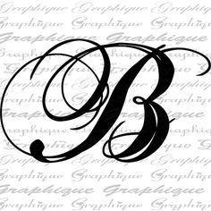 B clipart initial. The letter in cursive