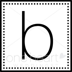 Monogram wedding monograms. B clipart initial