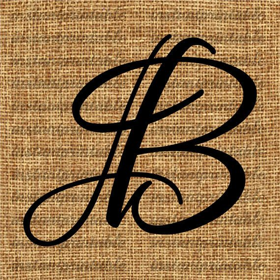 Monogram letter clip art. B clipart initial