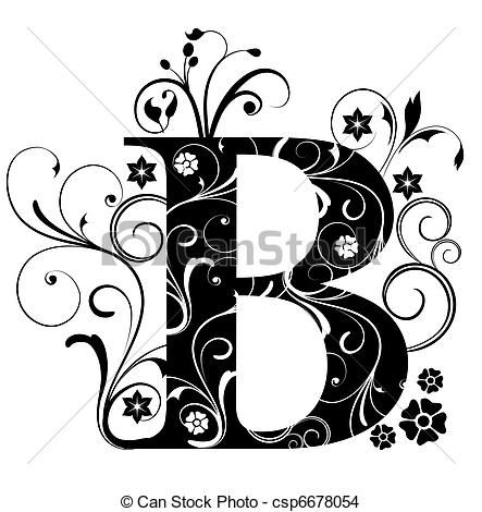 best my wall. B clipart initial