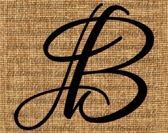 B clipart initial. Monogram letter j clip