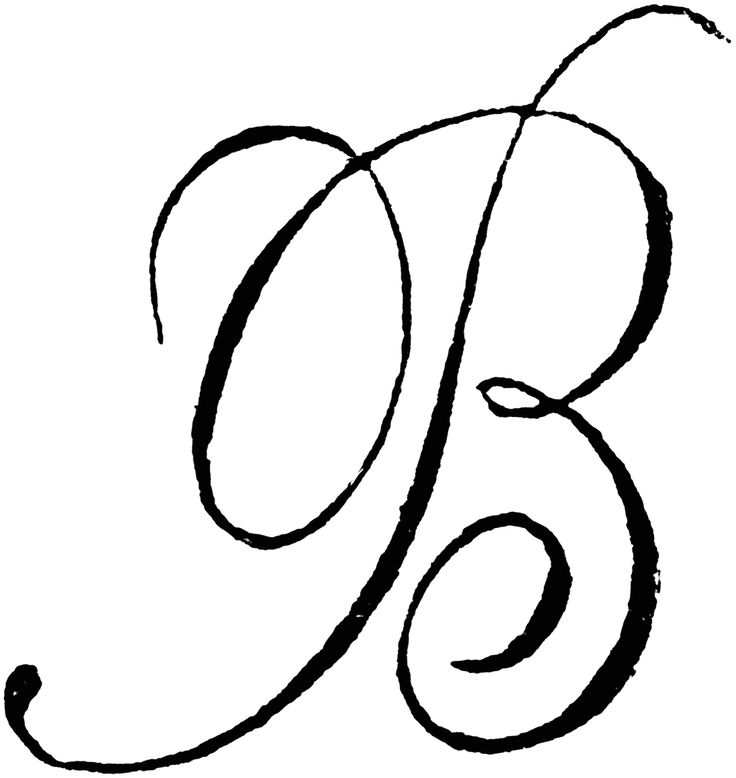 Collection of cursive free. B clipart later