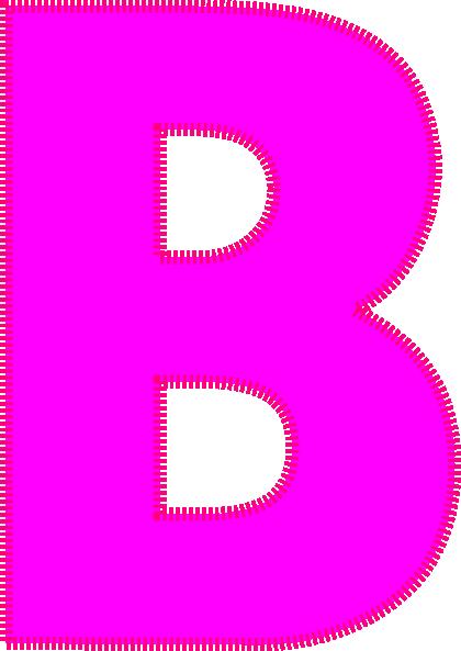 Letter clip art at. B clipart leeter