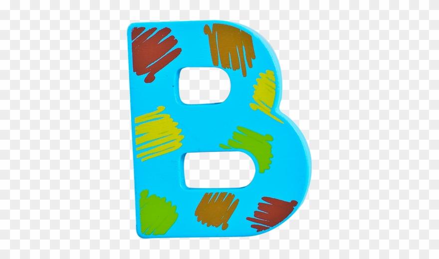 Kids wood letter blue. B clipart leeter