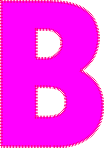 Letter clip art at. B clipart lettee