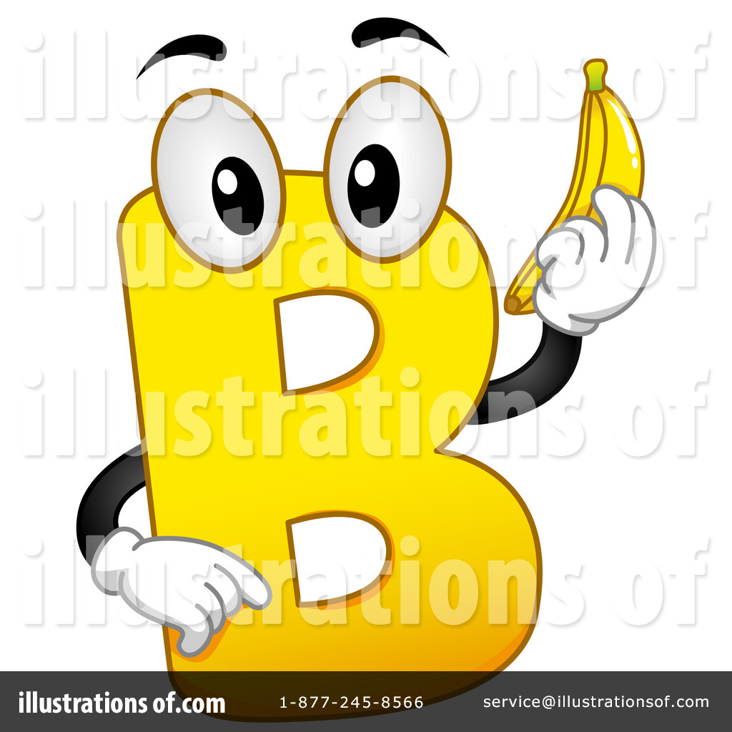 Letter illustration by bnp. B clipart lettee