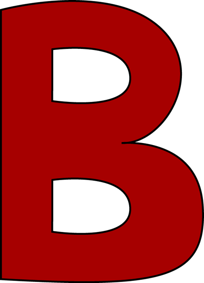B clipart letter b. Large