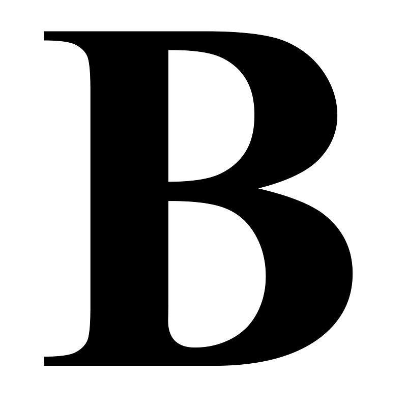 The letter gplusnick in. B clipart lettter