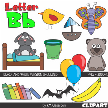 B clipart line. Letter color and art