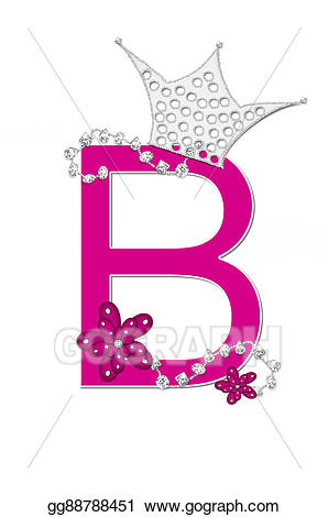 Stock illustration alphabet pageant. B clipart line