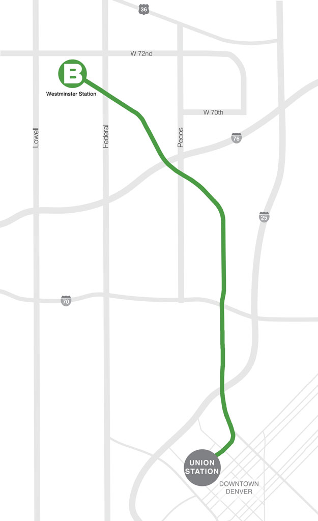 B clipart line. Rtd stations parking aerial
