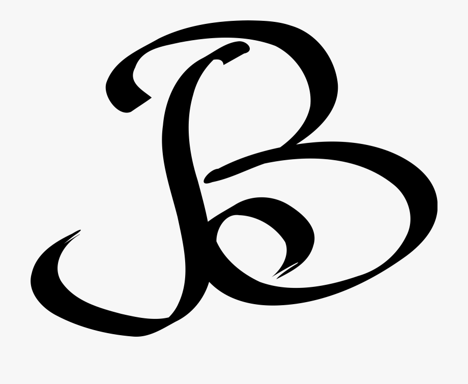 B clipart line. Computer icons letter case