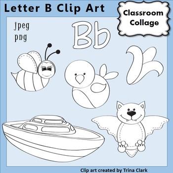 Alphabet clip art letter. B clipart line
