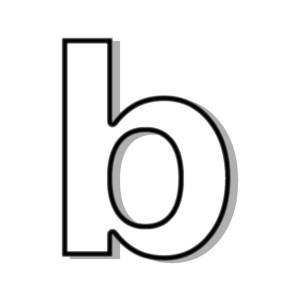 B clipart lowercase. Case panda free images