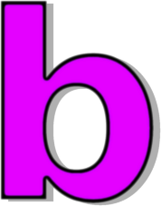 B clipart lowercase. Purple signs symbol alphabets