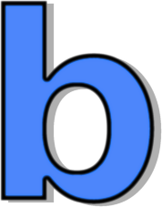 Blue signs symbol alphabets. B clipart lowercase