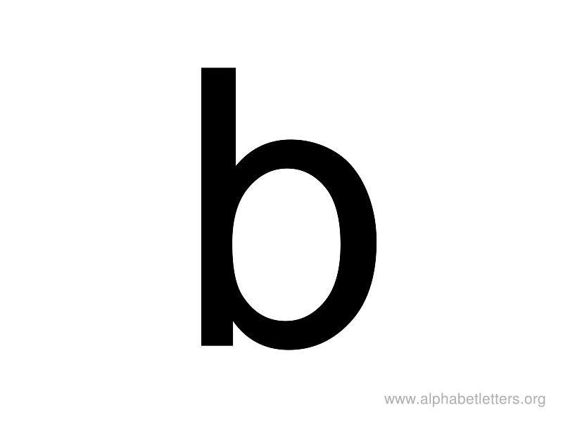 Lowercase Letter B Clipart