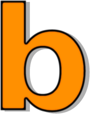 Orange signs symbol alphabets. B clipart lowercase