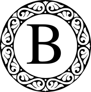B clipart monogram. Clip art at clker