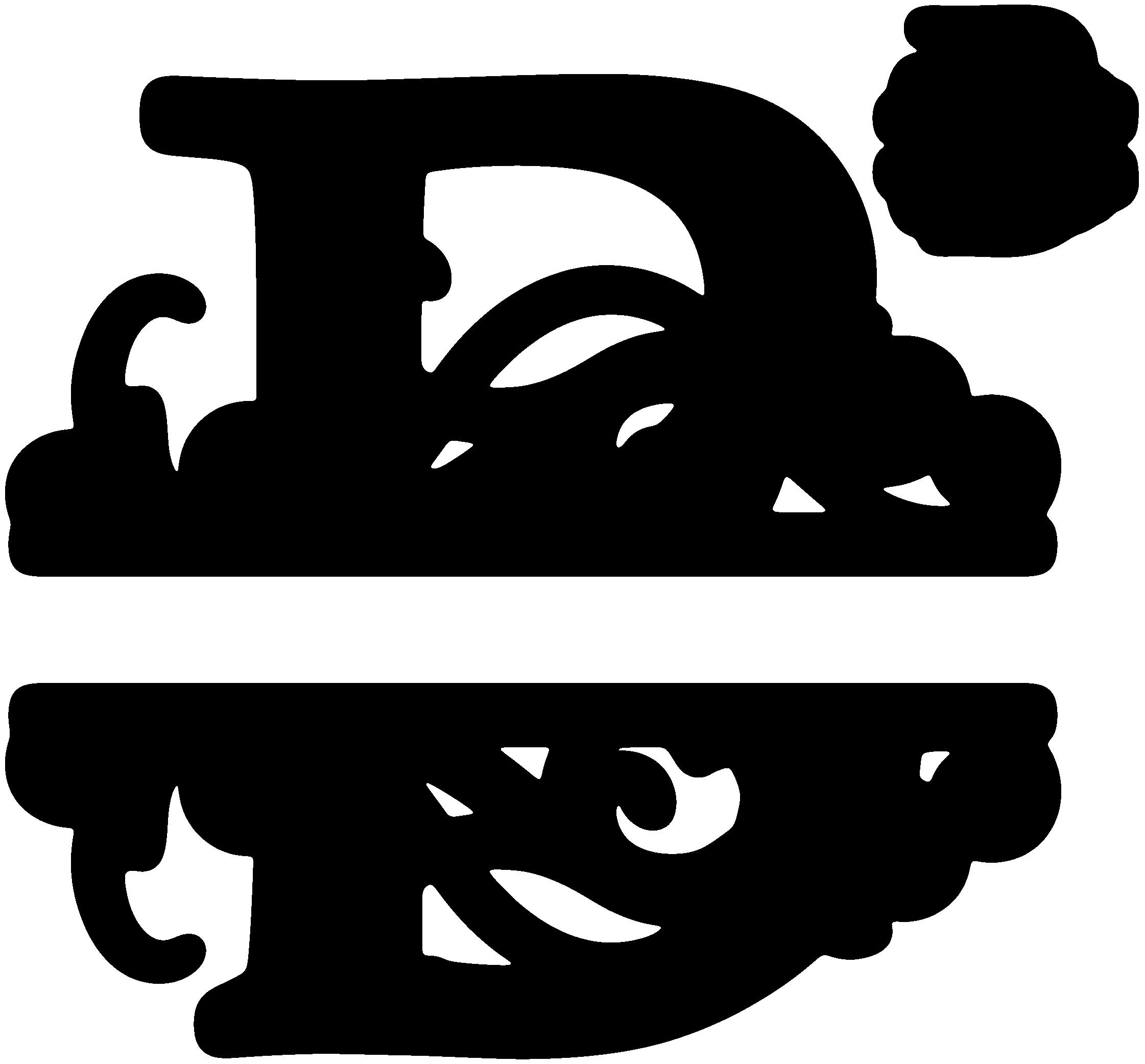 Split sds svgattic com. B clipart monogram