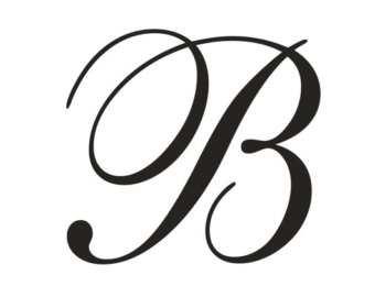 B clipart monogram. Letter items similar to