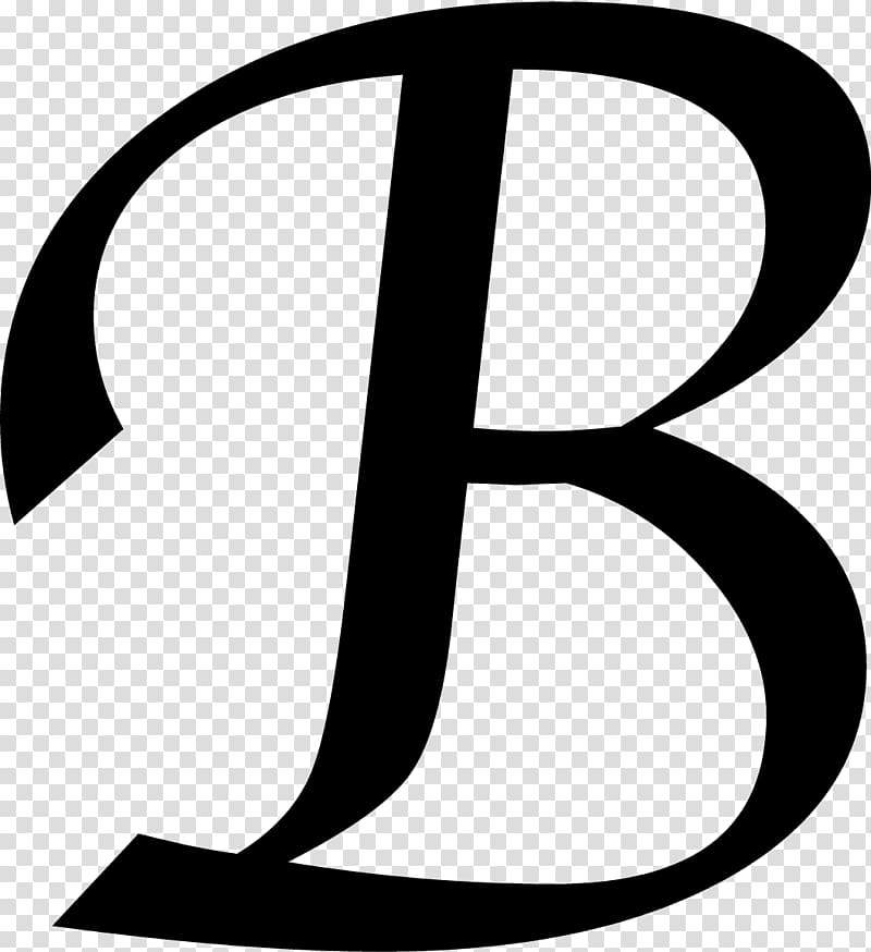 Letter initial others transparent. B clipart monogram