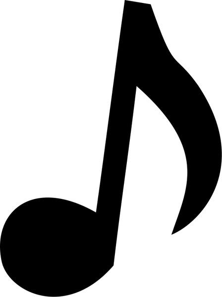 Musical dennis r free. B clipart music note