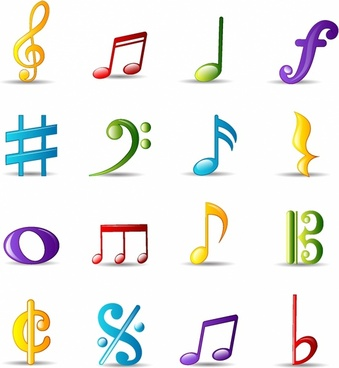 B clipart music note. Notes silhouette free vector