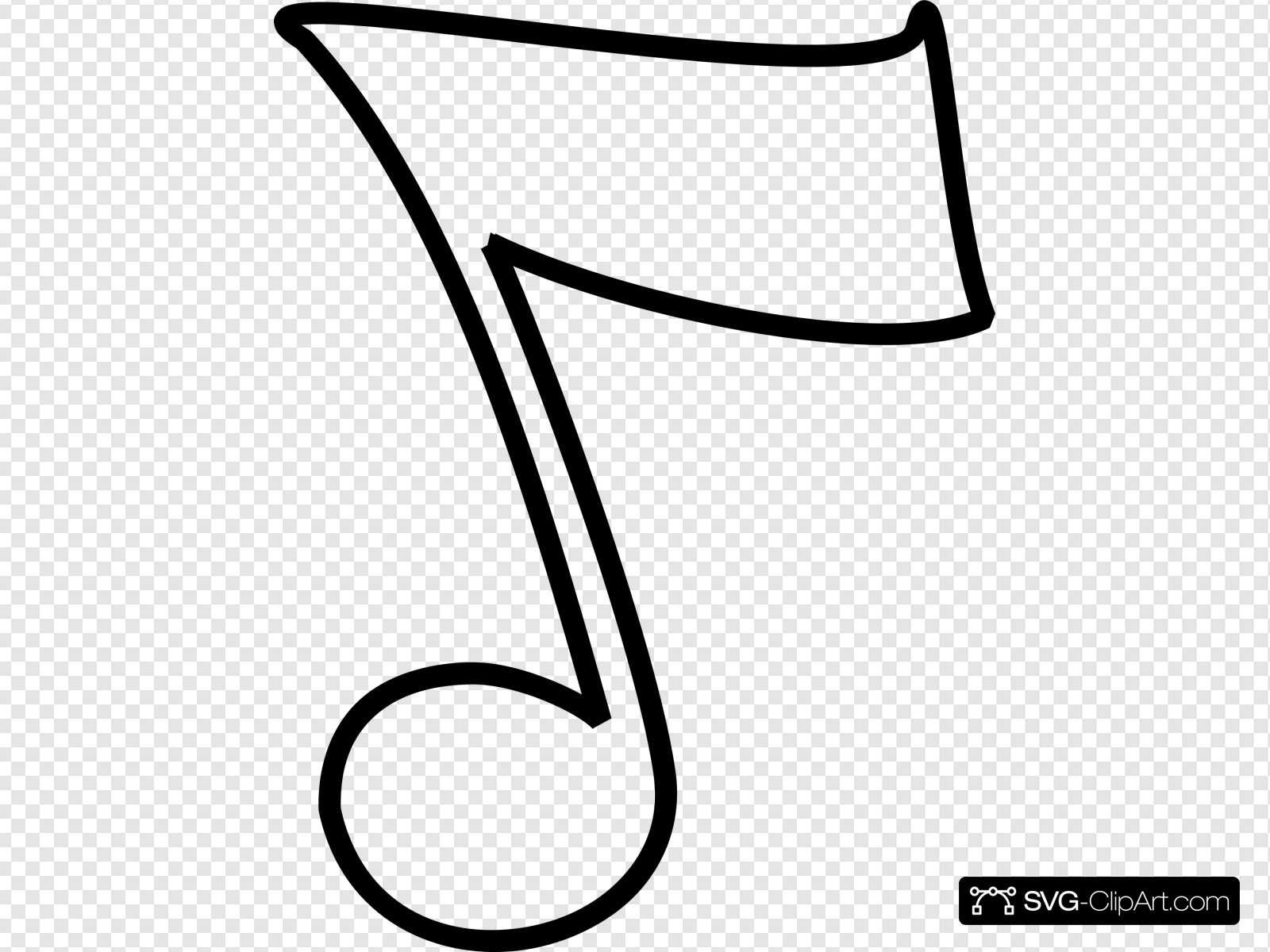 Musical and w clip. B clipart music note