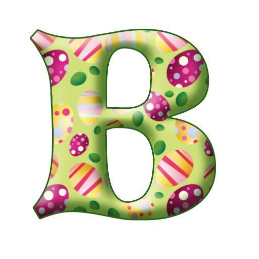 best alphabet easter. B clipart printable