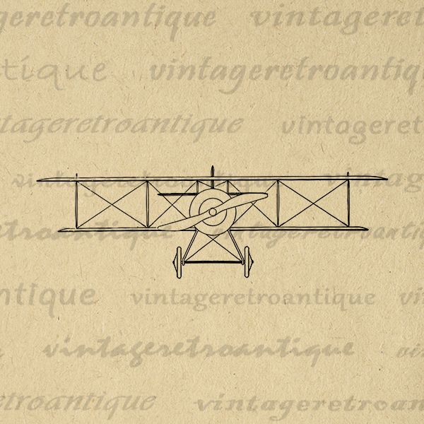 Oec type antique airplane. B clipart printable