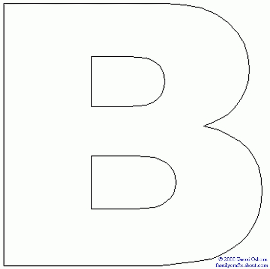 Letters letter master coloring. B clipart printable