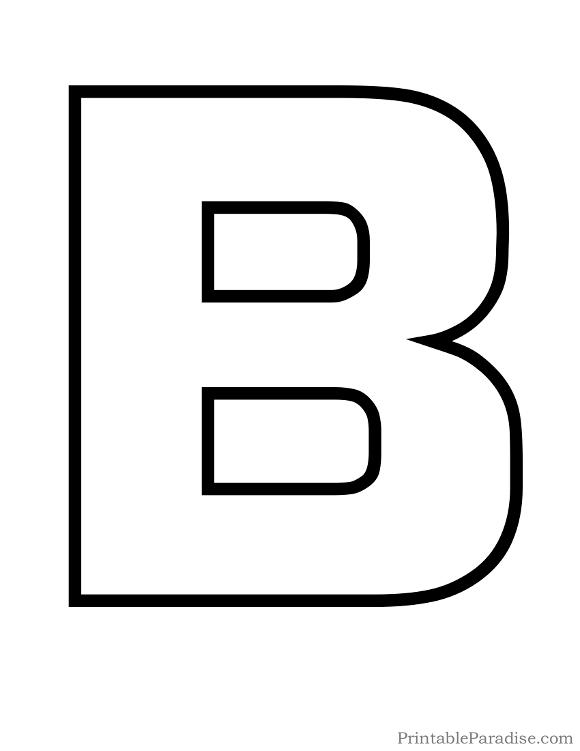 B clipart printable. Letters letter master outline