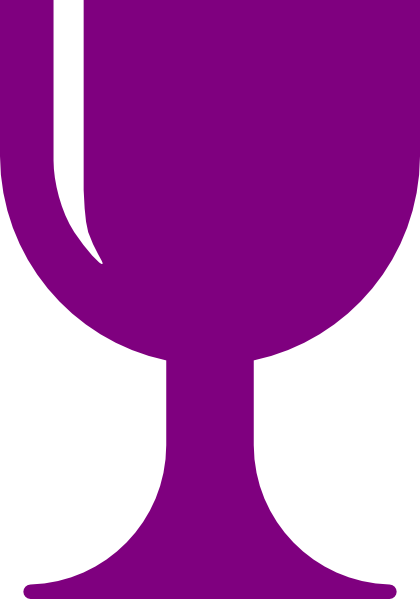 B clipart purple. Chalice clip art at