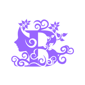 B clipart purple. Graphic design of flower