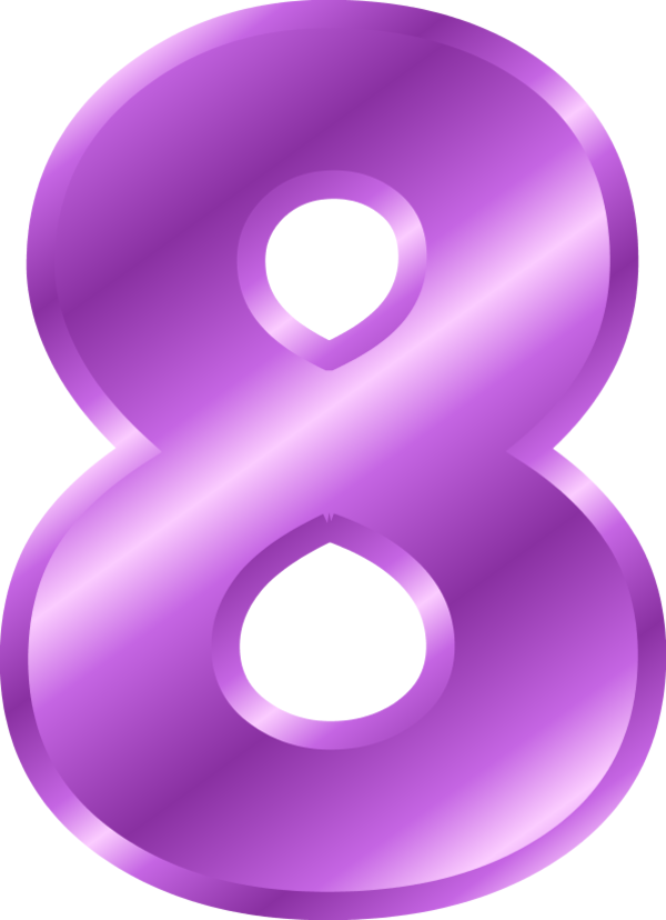 Number station . B clipart purple