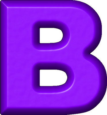 Free letter download clip. B clipart purple