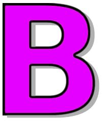 Capitol signs symbol alphabets. B clipart purple