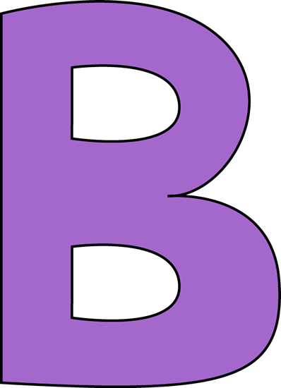 Purple Letter B Clip Art