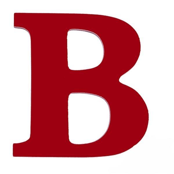 B clipart red.  best for buchanan