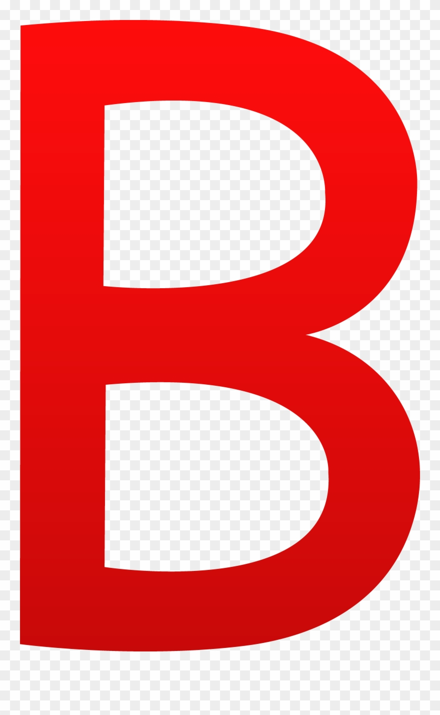 B clipart red. The letter png download
