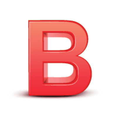 d letter the. B clipart red