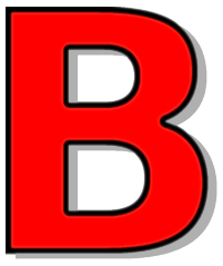 Capitol signs symbol alphabets. B clipart red
