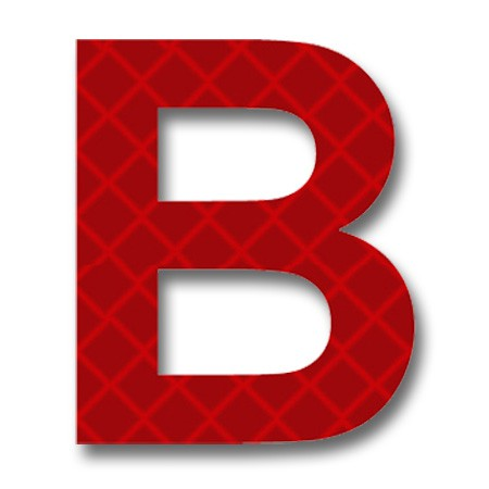 Free letter download clip. B clipart red