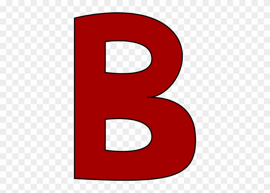 Large letter png download. B clipart red