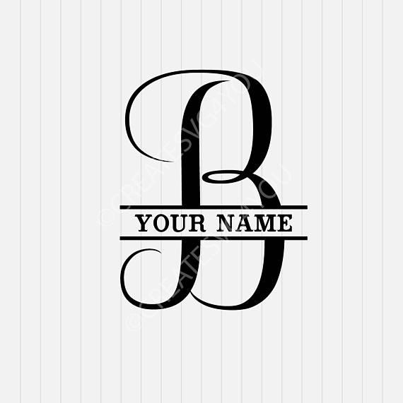 Split monogram letter dxf. B clipart svg