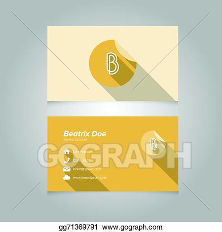 B clipart template. Vector art simple business