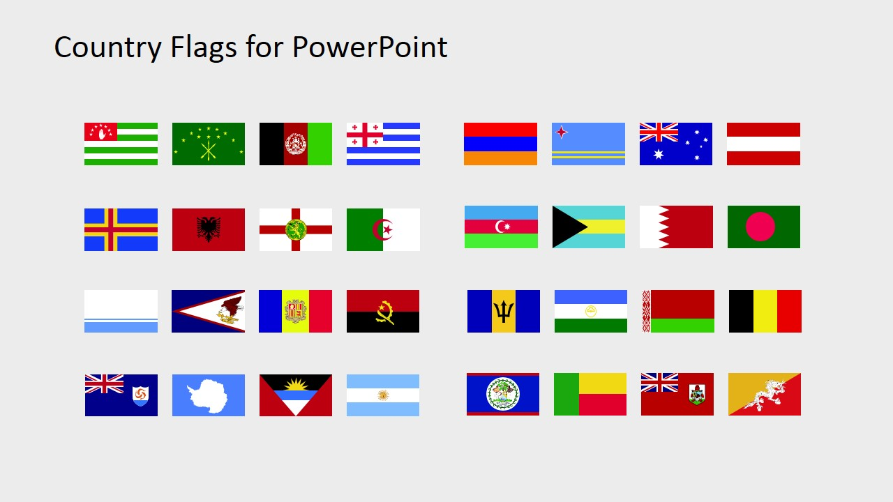 Country flags for powerpoint. B clipart template